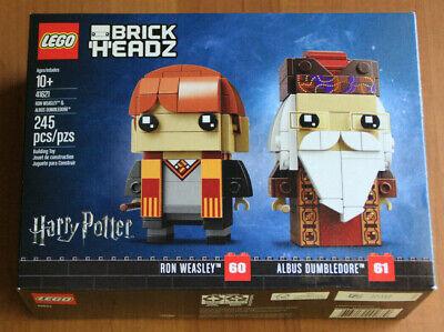 Lego BrickHeadz Ron Weasley & Albus Dumbledore 41621. New in sealed box. Retired