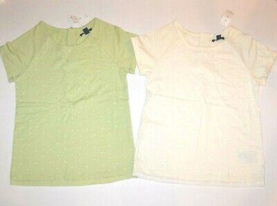 NWT Gap Kids Girls Flocked Dot Shirt/Top Lot 12 XL *Green *I