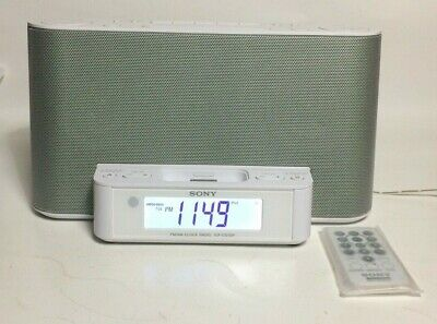 Used SONY ICF-CS10iP DREAM MACHINE ALARM CLOCK AM/FM Radio iPod-in W/ Remote