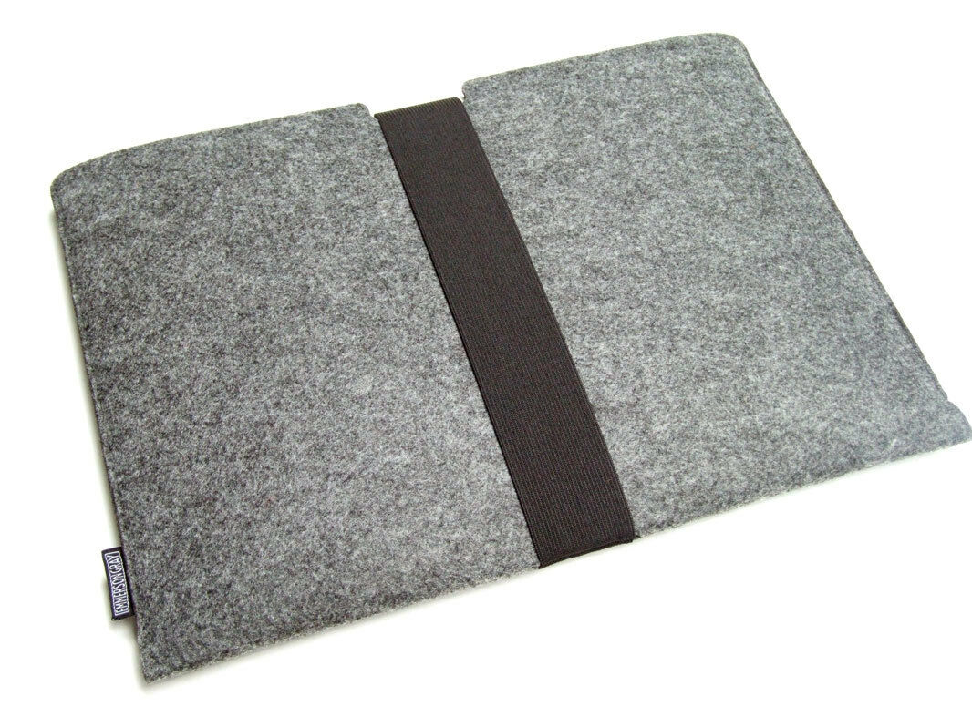 """iPad Pro 12.9"""" felt sleeve case wallet WITH STRAP, PERFECT F"""