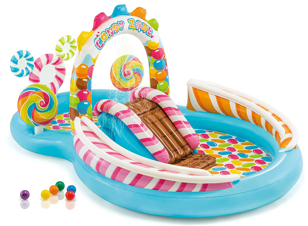 Intex Candy Zone Kids Inflatable Pool Swim Play Center 116x7