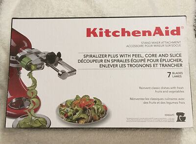 KitchenAid 7 Blade Spiralizer Plus with Peel, Core and Slice, KSM2APC New