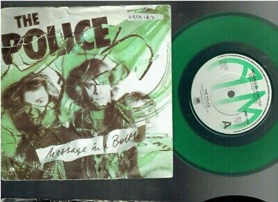 THE POLICE MESSAGE IN A BOTTLE 45 1979 GREEN VINYL