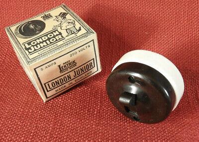 London Junior - Bakelite Porcelain Vintage Light Switch - Original Box