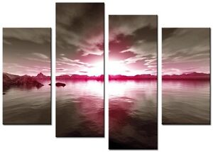 4-Panel-Total-size-98x78cm-Large-Digital-Canvas-Art-Abstract-Prints-DAY-PINK