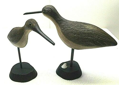 HAND CARVED WOOD SHORE BIRDS BY ALEX GRETCHEN FAMOUS L.I. N.Y. CARVER
