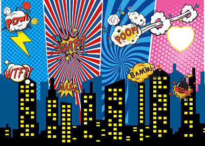 Photography Backdrop Superhero City Night Scene Cityscape Background Props - City Scene Backdrop