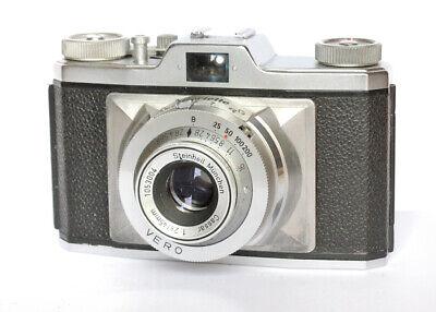 Gloriette Braun fotocamera a rullino fotografico 35 mm obiettivo Cassar 45mm 2.8