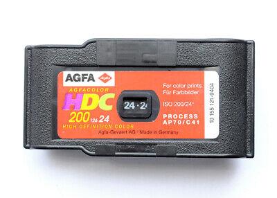 Pellicola fotografica 127 rullino colori Agfa HDC 24 foto 200 ASA USATO Vintage