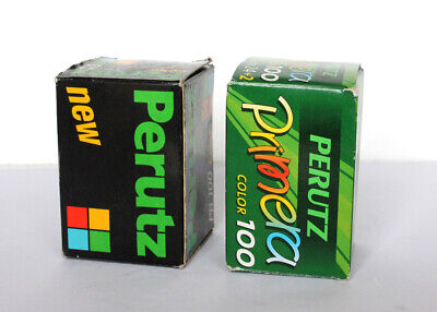 Pellicola rullino fotografico Perutz solo scatolo only box vintage collezione