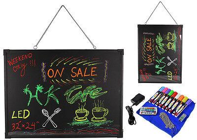 32 X 24 Flashing Led Neon Menu Sign Fluorescent Message Erasable Writing Board
