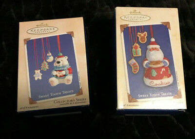 HALLMARK COLLECTOR'S SERIES-SWEET TOOTH TREATS-PORCELAIN & DATED COOKIE JAR & CO