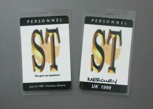 Shania Twain backstage passes 2 laminated 1999 Toronto & UK - AUTHENTIC  !