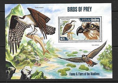 MALDIVE ISLANDS 2013 BIRDS OF PREY M/S MNH