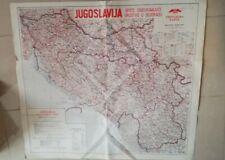 Cartina Jugoslavia.Cartina Jugoslavia Opste Osiguravajuce Drustvo U Beogradu Pregledna Karta Ebay