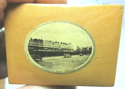 ANTIQUE MAUCHLINE SMALL WOODEN TRINKET BOX RAMSGATE ROYAL CRESCENT