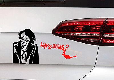 Joker Batman Aufkleber JDM Sticker Clown Dark Night Gotham Decal why so serious