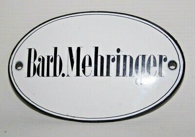 Barb.Mehringer Vintage Original Arts & Crafts Name Enamel Plaques 11 x 7 cm
