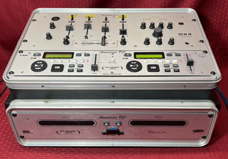 American Audio DX4,American DJ DCD-pro200 MkIII Dual Cd Player And Pro Case