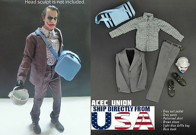 1/6 Joker Heath Ledger Outfits Mask Set For DX01 DX11 Hot Toys - U.S.A.