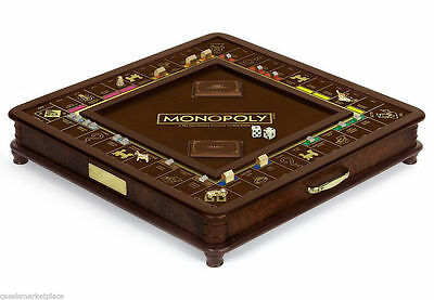Monopoly Museum Luxury Collectors Edition Wood Classic Board Game