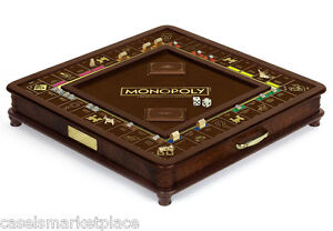 MONOPOLY Museum Wood Collectors Edition Classic Board Game