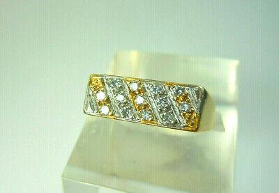 Vintage 9CT Gold Diamond Ring Size 'N' 6.5 grams.