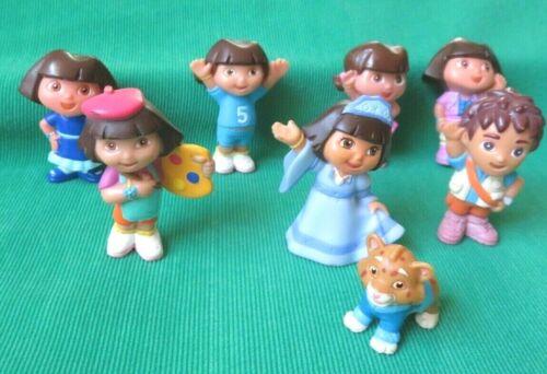 "Dora the Explorer 2""  figures ARTIST BALLERINA PRINCESS SOCCER DIEGO JAGUAR LOT"