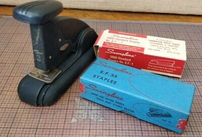 Vintage - Swingline No. 3 Speed Stapler - Black With Matching Staplers