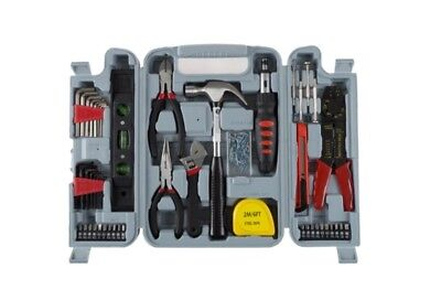 130 Piece Home Repair Tool Set Kit Box for Woman or Man  Red / Blk