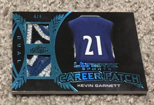 2019 Leaf Ultimate Sports Career Kevin Garnett KG Dual Sick 3-Color Patch #d 4/4