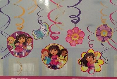 Dora Decorations (Dora and Friends Party supplies Swirl Decorations hanging)