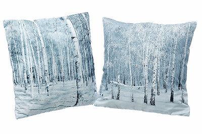 Kissenhülle Wald Birkenwald 40x40 cm (486300) Dekokissen Sofakissen Motivkissen - Birke Wohnzimmer Sofa