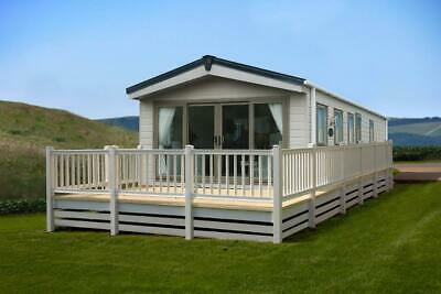 Luxury Lodge with timber decking and pitch fees for 2021 season
