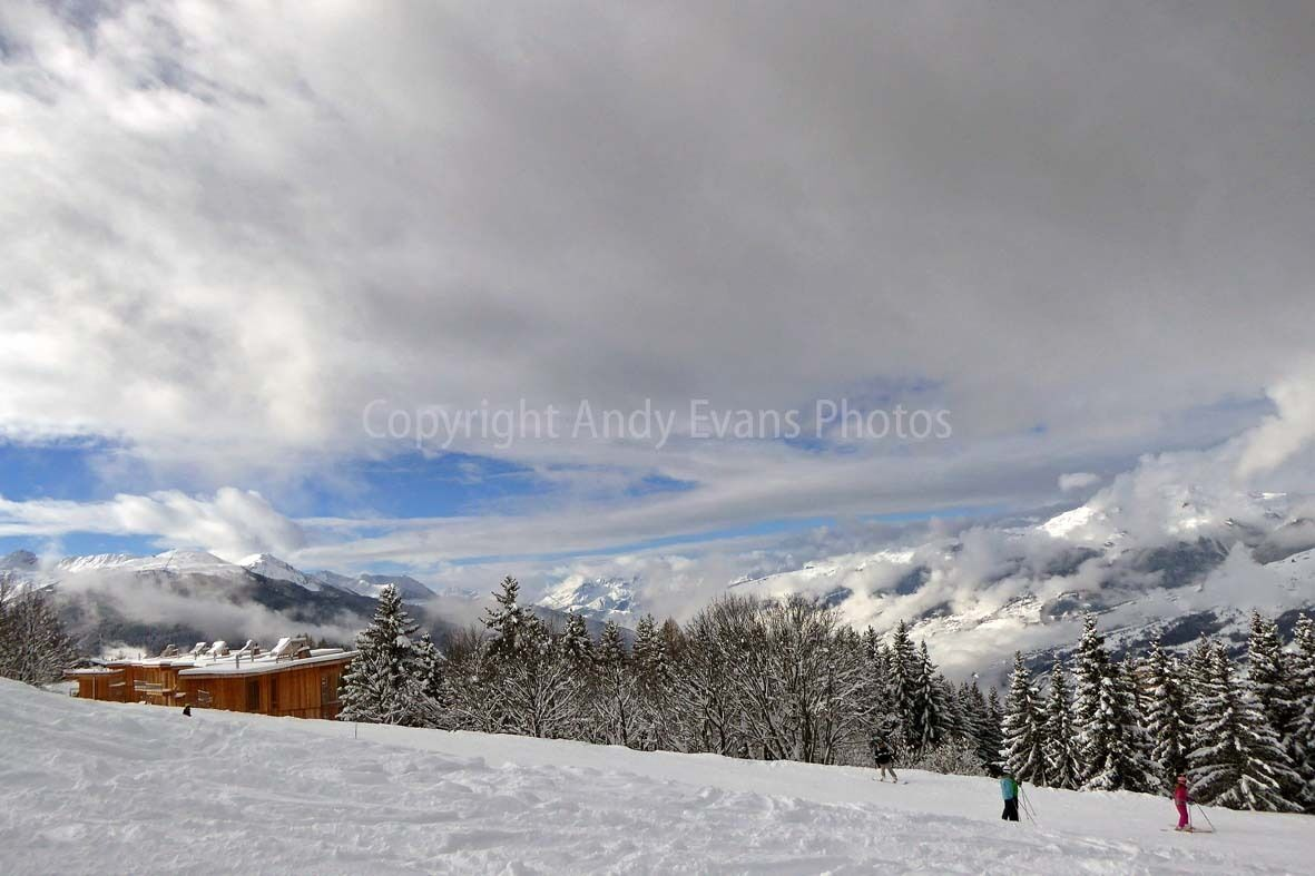 Image Les Arcs 1800 paradiski area French Alps France photograph picture poster print