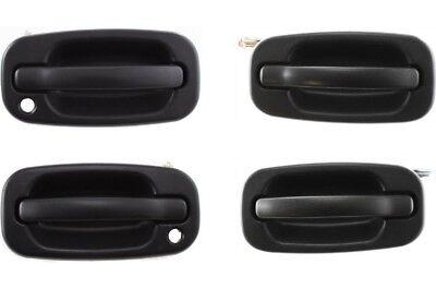 NEW Set of 4 Front & Rear Door Handles Black for 99-06 Silverado Tahoe Yukon