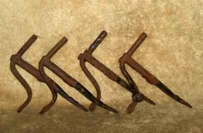 4 Late 1700's Early 1800's Wrought Iron Shutter Hangers