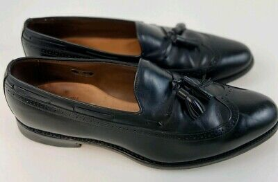 Allen Edmonds Berwick shoes mens 13B black loafers tassel wingtip leather