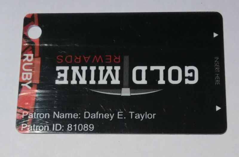 GOLD TOWN CASINO PAHRUMP, NEVADA ERROR RUBY SLOT CARD GREAT FOR ANY COLLECTION!