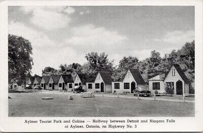 Aylmer Tourist Park & Cabins  Aylmer Ontario ON Motel Unused Postcard F16 for sale  Victoria