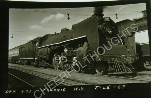 Vintage B&W RR Photo Positive D&H Delaware Hudson 601 Colonic from Negative 4D91