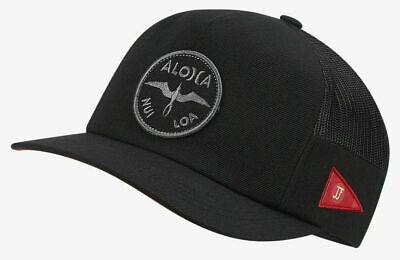 Hurley Men's Dri-FIT JJF John John Florence Aloha Snapback Hat Cap - Black