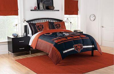 Best Chicago Bears Bedding NFL Licensed 3PC Comforter Set Pillowcases King Size Chicago Bears Comforter Set