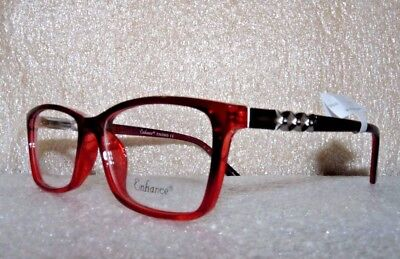 NEW NEW YORK EYE ENHANCE EN3965 BURGUNDY EYEGLASSES GLASSES FRAMES 53-17-140