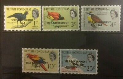 BRITISH HONDURAS 1964 NEW CONSTITUTION MH SET OF 5