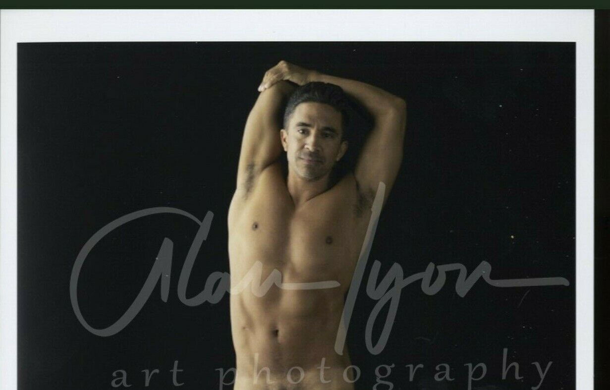 8.5x11 A. Lyon Orginial Signed Male Photo Gay Interest m1 Arms Over Head  - $29.95