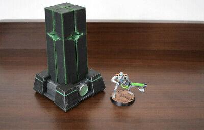 "3D Printed Sci-Fi ""Energy Beamer"" - Wargaming Warhammer Necron Terrain Diorama"