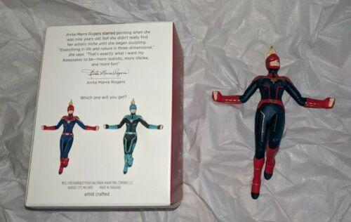 Hallmark Keepsake 2019 Captain Marvel Mystery Ornament in Red & Blue