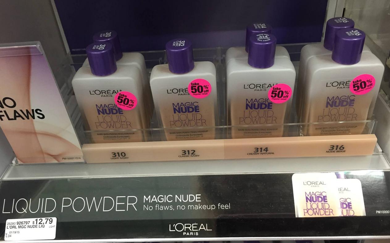BUY 2 GET 1 FREE  Loreal Magic Nude Liquid Powder Foundation