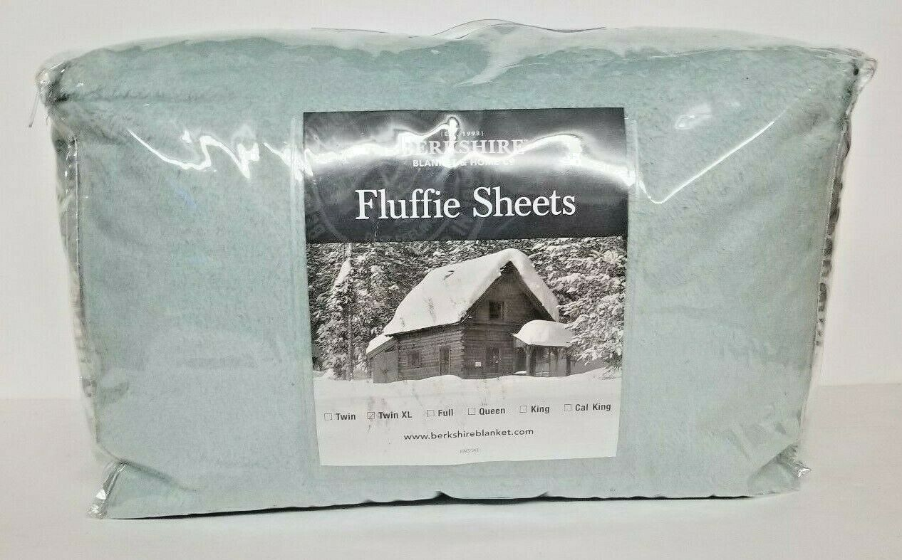 Berkshire Blanket Fluffie Sheet Set Twin xl-Seaglass--NIP